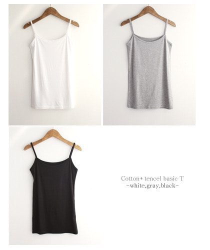 Cotton tencel basic 티셔츠/3c