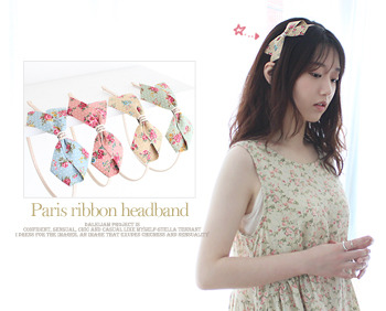 Paris ribbon headband (4c)