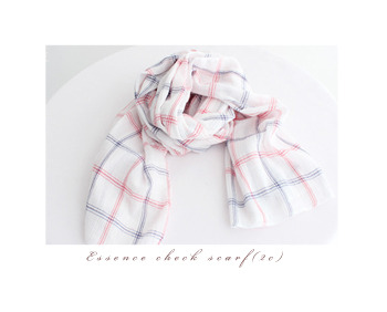 Essence check scarf(2c)