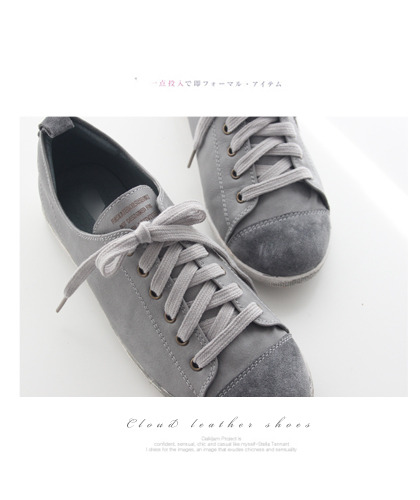 Cloud leather shoes