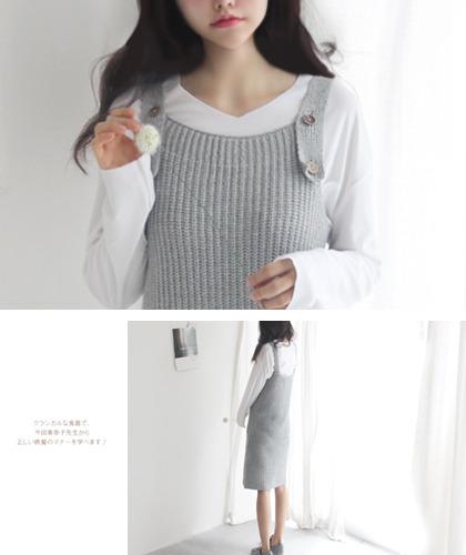 솔메이트 knit long ops