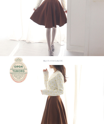 Suede long skirt...3c