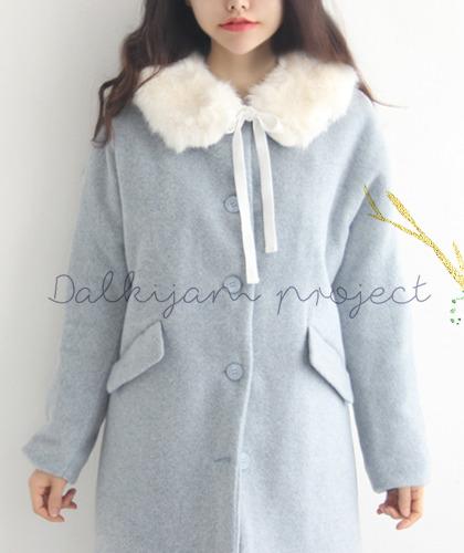 Sora wool coat +mink fur